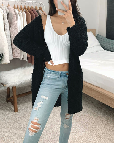 Jennah - Black Cardigan