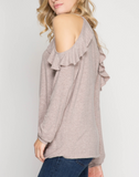 Melody - Cold Shoulder Knit Top