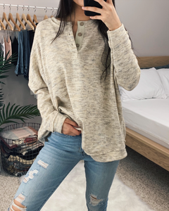Oversized Henley Sweater