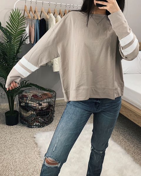 Taupe French Terry Sweatshirt