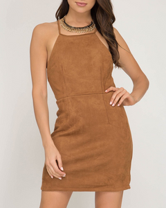 Camel Halter Dress