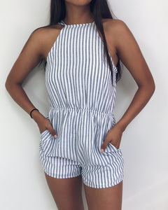 Jess - Striped Strappy Romper