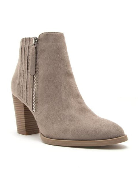 Larissa - Gray Ankle Booties