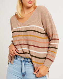 Mocha Striped Sweater