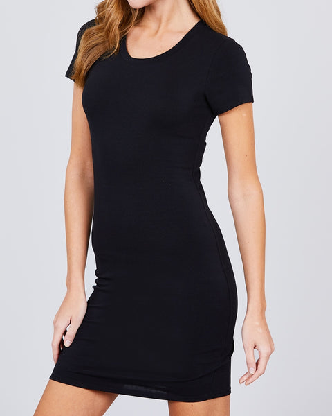 T-Shirt Dress - Black