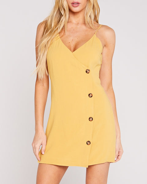 Mariah Yellow Mini Dress
