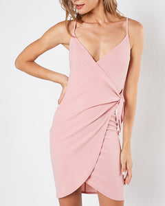 Rina - Blush Pink Wrap Dress