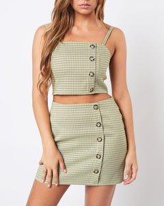 Plaid Two Piece Set