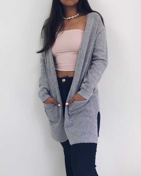 Caroline - Light Gray Cardigan