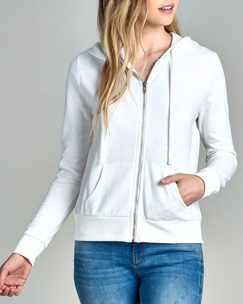 Comfy Full Zip Jacket - White