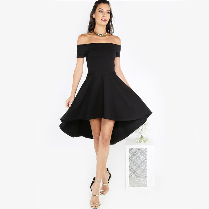 Bardot Dip Hem Empire Dress