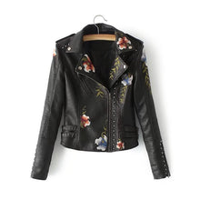 Flower Embroidery Studded Detail Jacket