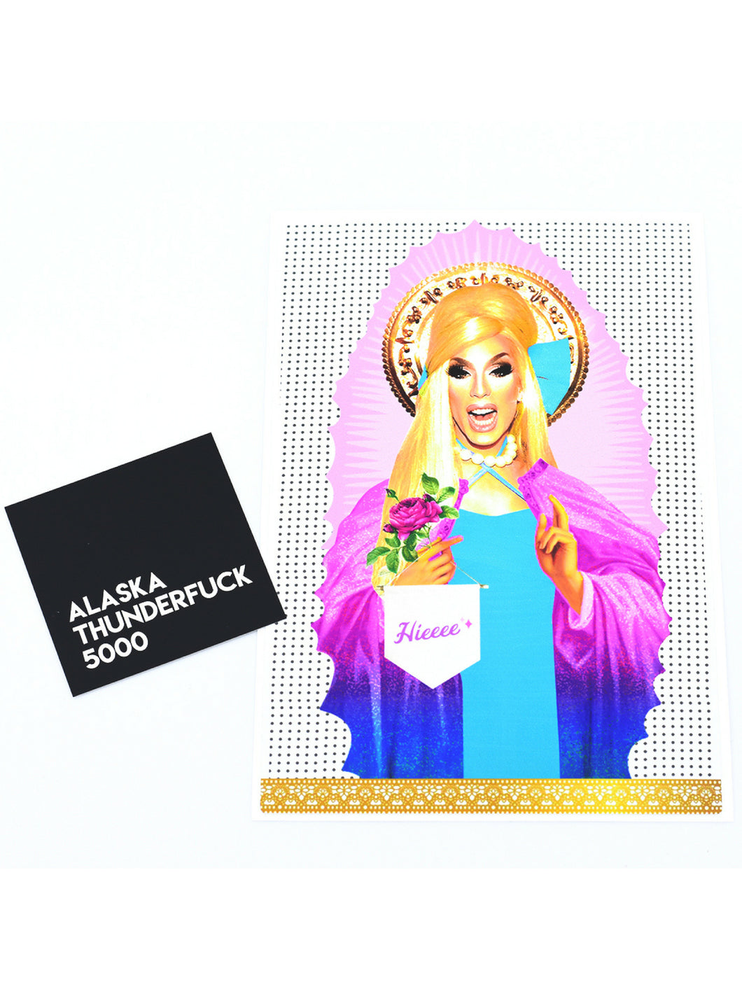 Vinyl sticker featuring Ru Paul's Drag Race Allstar,  Alaska!