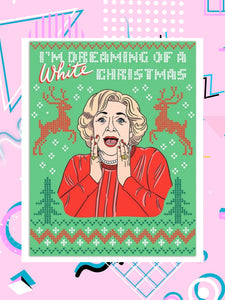 Betty White Christmas Card