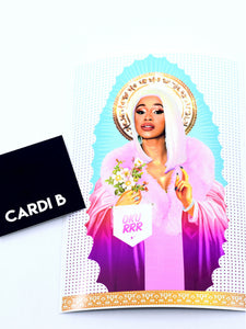 Vinyl sticker featuring Cardi B.