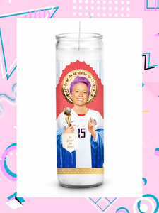 Megan Rapinoe Prayer Candle