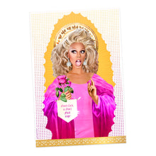 Ru Paul Prayer Candle That Says Good Luck Don't Fuck It Up