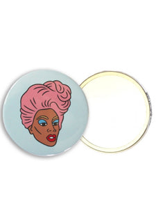 Feminist Speakeasy Ru Paul Pocket Mirror LGBTQ Gifts