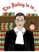 Ruth Bader Ginsburg Greeting Card that says, the ruling is in, you are supreme, happy mothers day