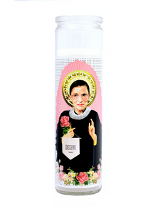 Justice Ruth Bader Ginsburg Prayer Candle