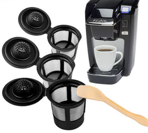 Malibu Coffee, Keurig Coffee Maker Mesh Cups, 3 Pieces with Spoon - visitors