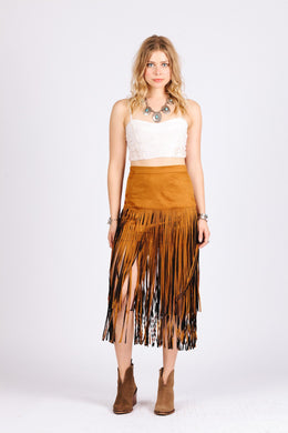 Desert Fringe Skirt - visitors