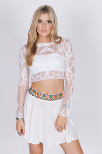 Malibu Beach, Autumn Glory Flowy Skirt - visitors