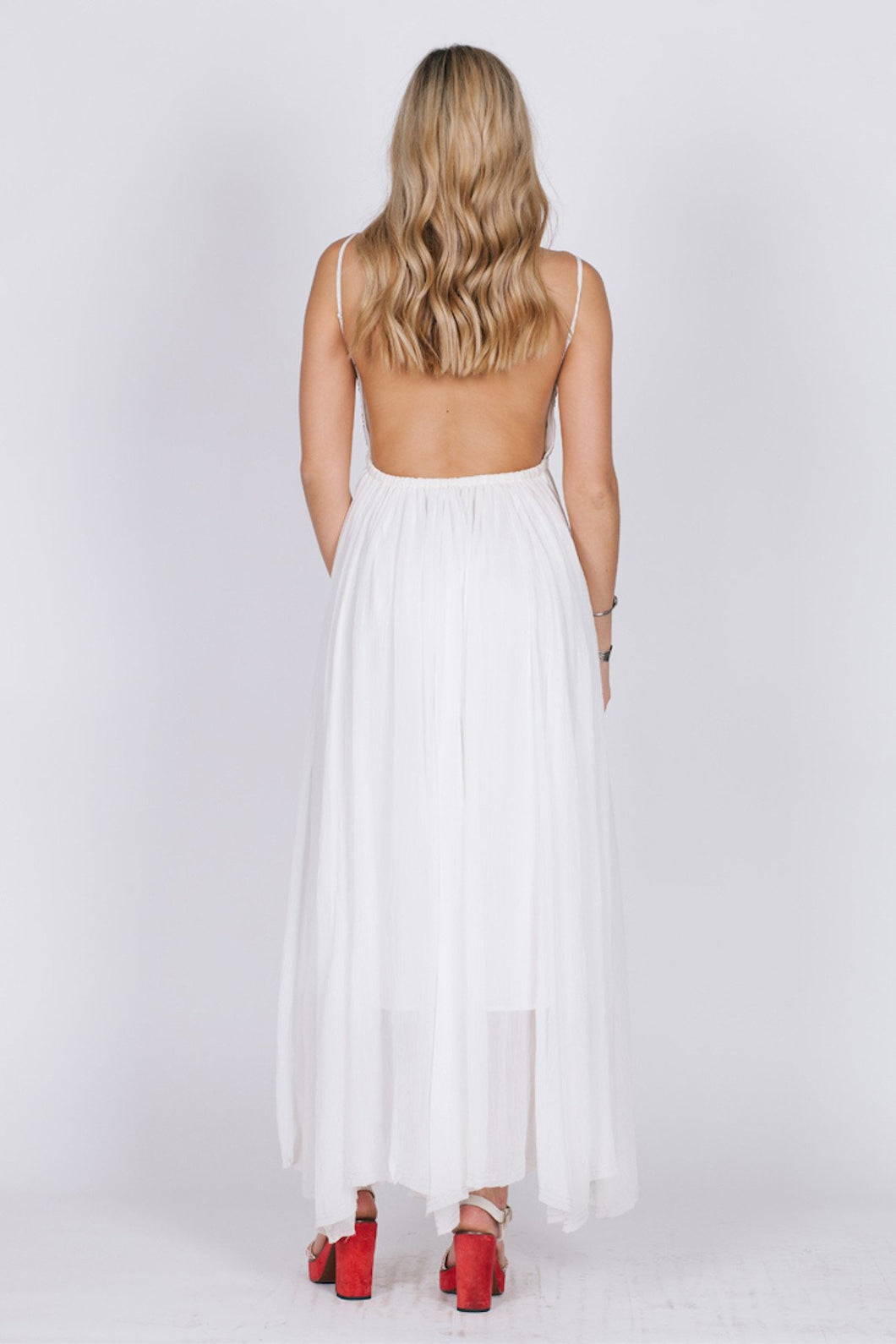 Golden Meadow Backless Maxi - visitors