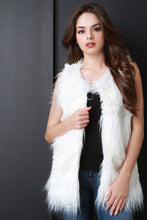 Double Texture Faux Fur Vest - visitors