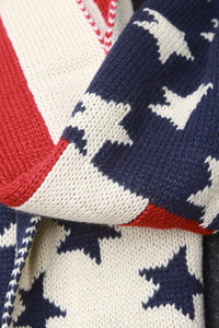 Old Glory Braid Stitch Scarf - visitors