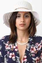 Crochet Eyelet Cloche Sun Hat - visitors