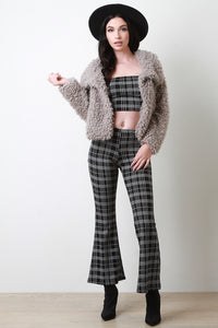 Shaggy Faux Shearling Button Up Jacket - visitors