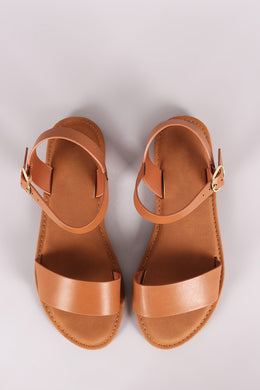 Sunny Feet One Band Ankle Strap Flat Sandal - visitors
