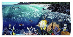 Aquarium At Makena - Beach Towel - visitors