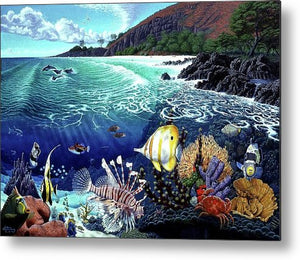 Aquarium At Makena - Metal Print - visitors