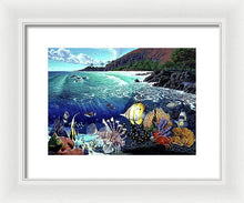 Aquarium At Makena - Framed Print - visitors