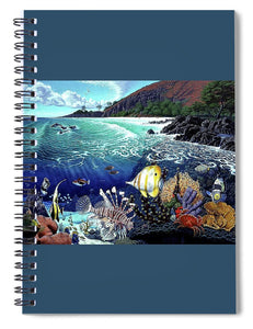 Aquarium At Makena - Spiral Notebook - visitors