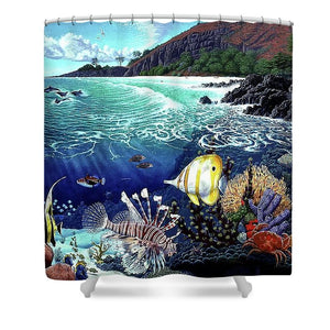 Aquarium At Makena - Shower Curtain - visitors