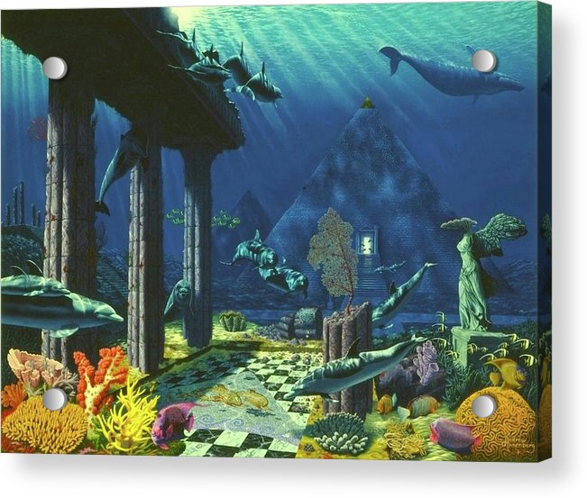 Aqueous Atlantis - Acrylic Print - visitors