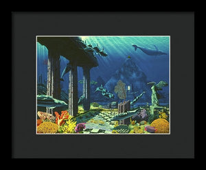 Aqueous Atlantis - Framed Print - visitors