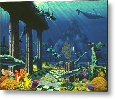 Aqueous Atlantis - Metal Print - visitors