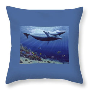 Baby Humpback - Throw Pillow - visitors