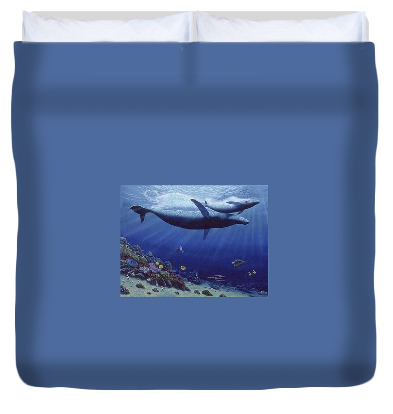 Baby Humpback - Duvet Cover - visitors