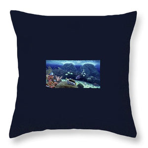 Clown Fish - Throw Pillow - visitors