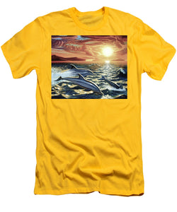Dolphin Dream - Men's T-Shirt (Athletic Fit) - visitors