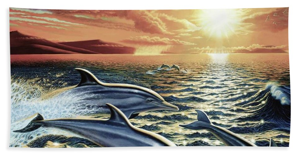 Dolphin Dream - Beach Towel - visitors