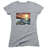Dolphin Dream - Women's V-Neck (Athletic Fit) - visitors