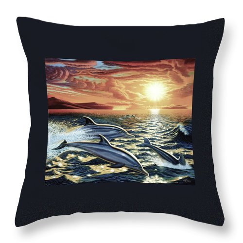Dolphin Dream - Throw Pillow - visitors