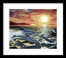 Dolphin Dream - Framed Print - visitors