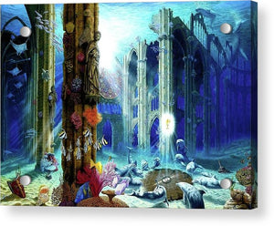 Guardians Of The Grail - Acrylic Print - visitors